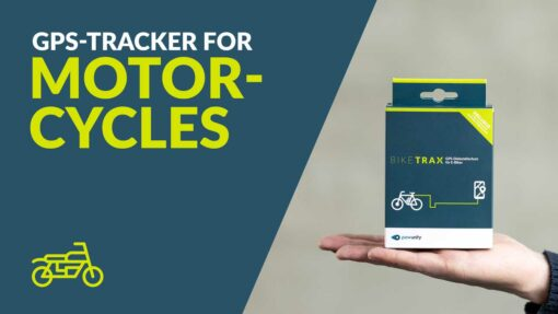 GPS Tracker for Motorcycles - PowUnity BikeTrax for Motorcycles & Co.