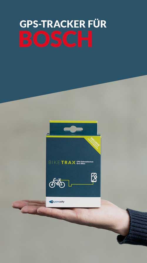 Ebike GPS Tracker Bosch - BikeTrax GPS-Diebstahlschutz von PowUnity