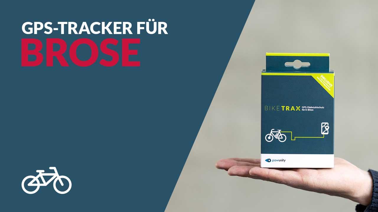 Ebike GPS Tracker Brose - BikeTrax GPS-Diebstahlschutz von PowUnity