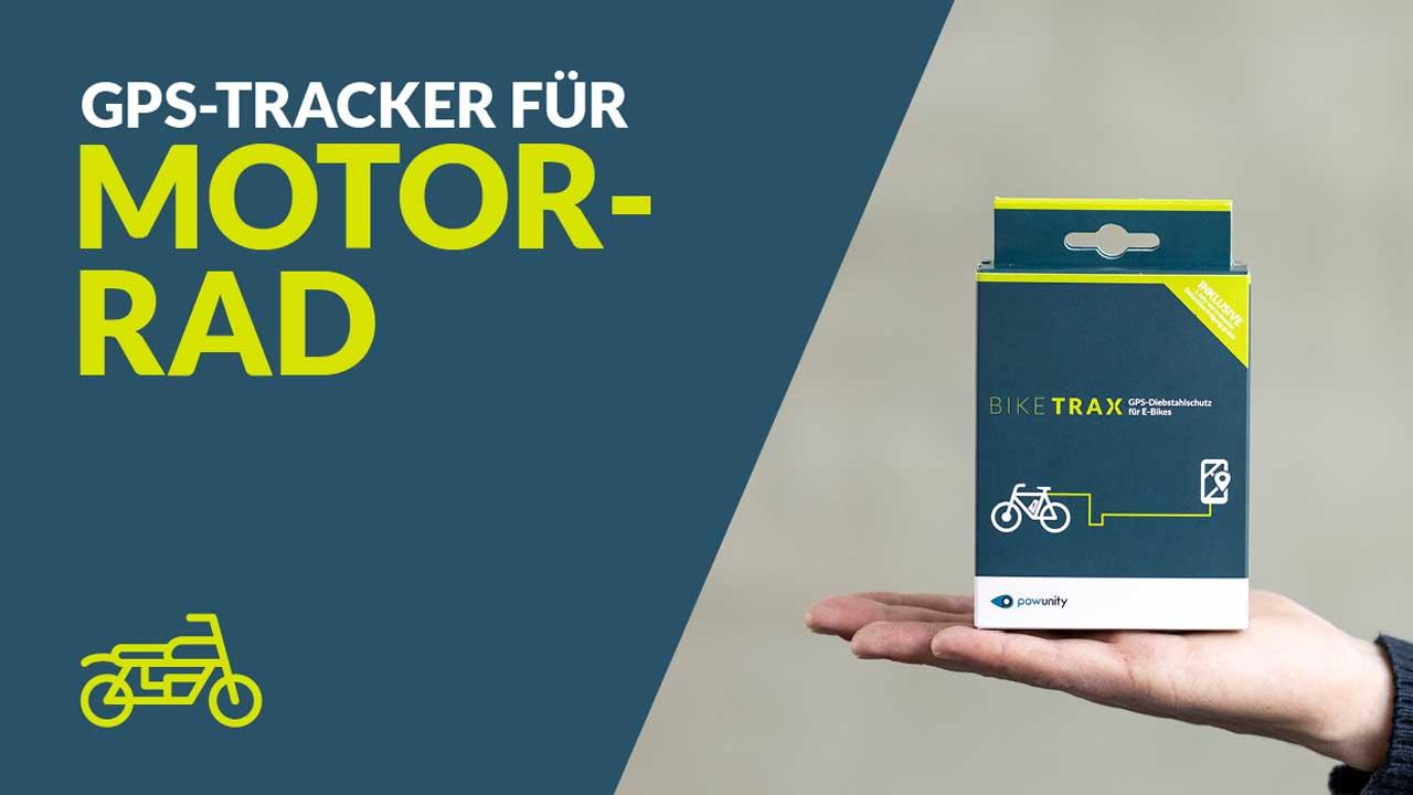 GPS Tracker Motorrad - BikeTrax GPS-Diebstahlschutz von PowUnity