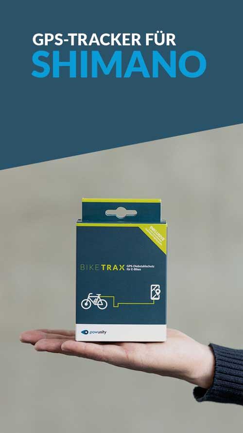 Ebike GPS Tracker Shimano - BikeTrax GPS-Diebstahlschutz von PowUnity