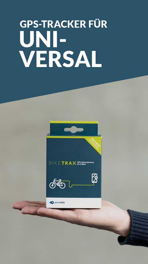 GPS Tracker Universal - BikeTrax GPS-Diebstahlschutz von PowUnity