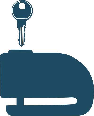 Bremsscheibenschloss - Diebstahlschutz fürs Motorrad