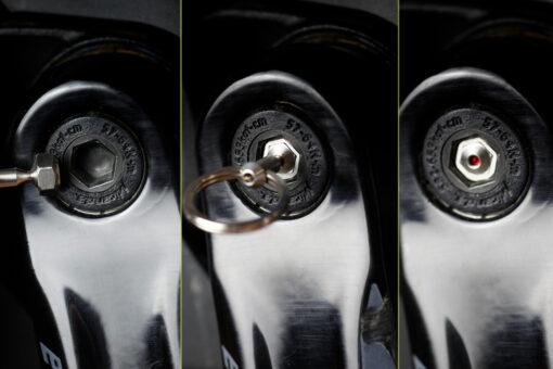 3 Schritte HexLox Key in Tretkurbel einsetzen