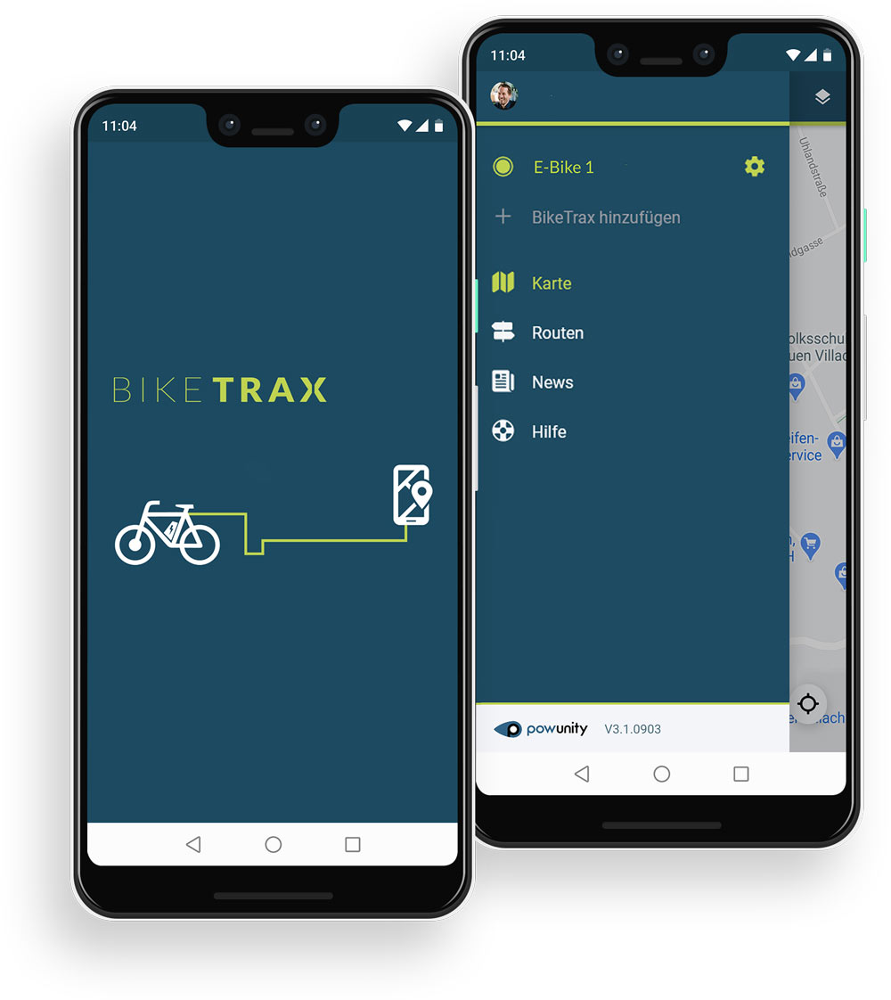 Biketrax Smartphone App Start Navigation