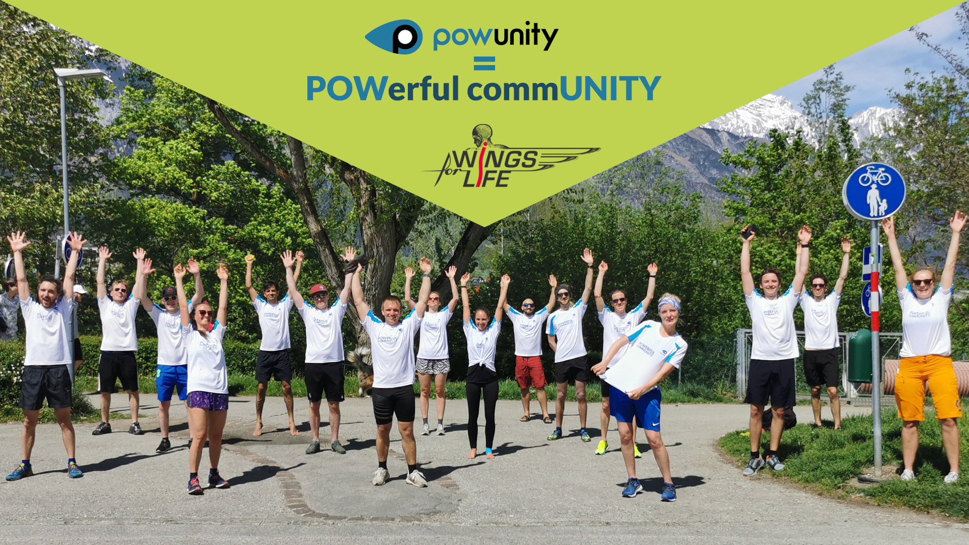 PowUnity beim Wings for Life Run 2021