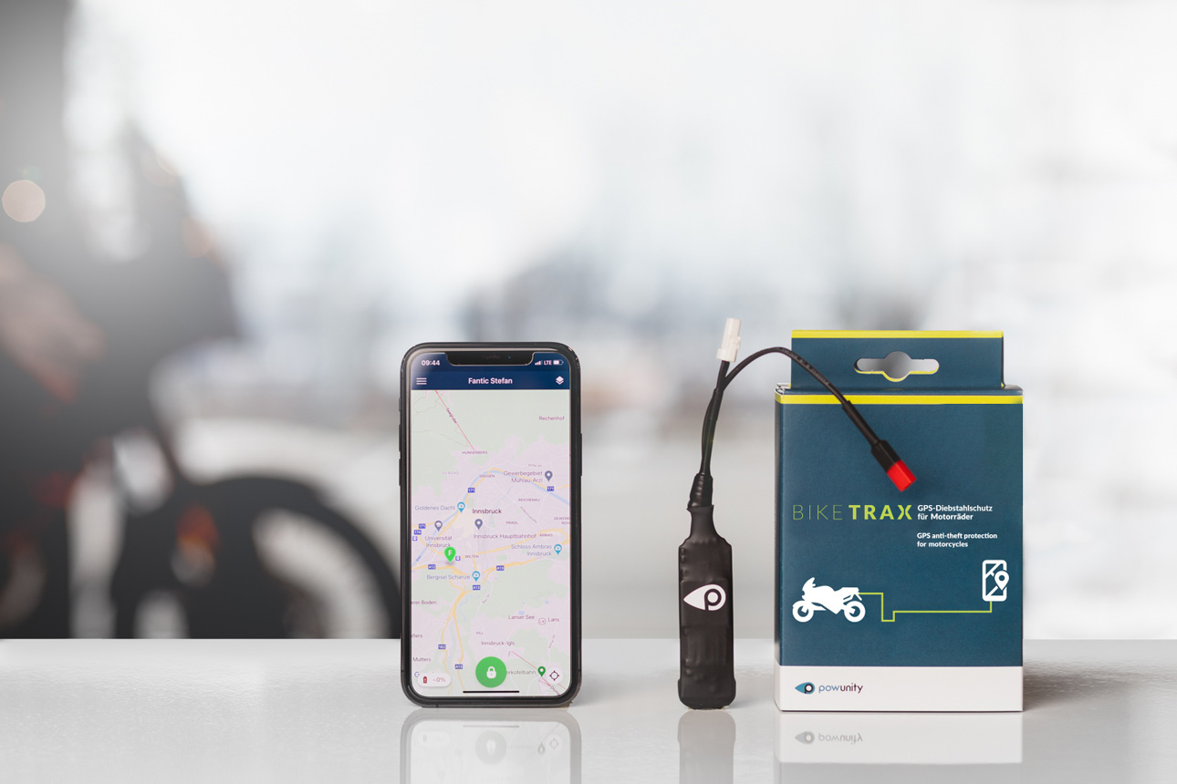 Powunity Motorrad GPS-Diebstahlschutzm Biketrax