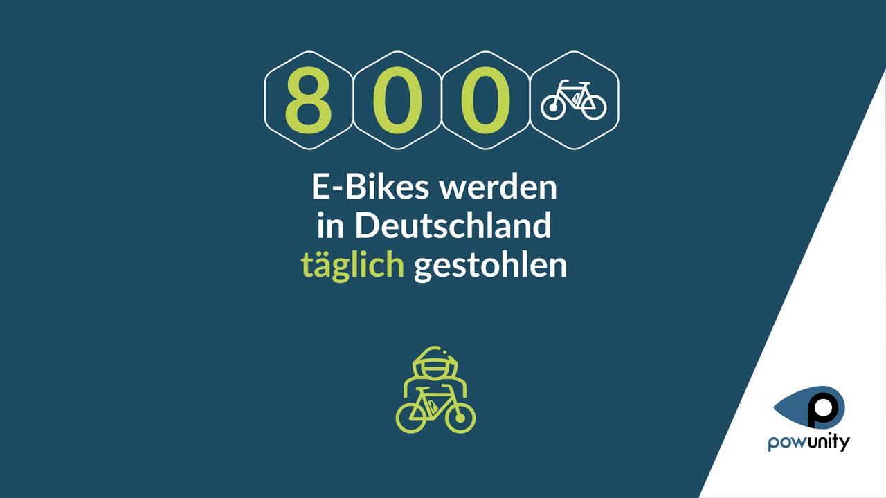 800 E-Bikes werden in Deutschland täglich gestohlen